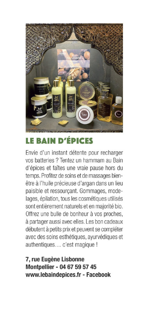 Article de presse le bain d'épices
